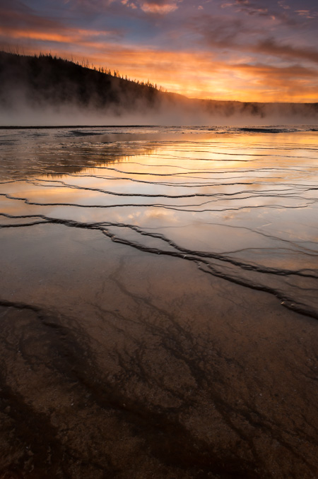 A Perfect Evening at Yellowstone's Midway Geyser Basin
